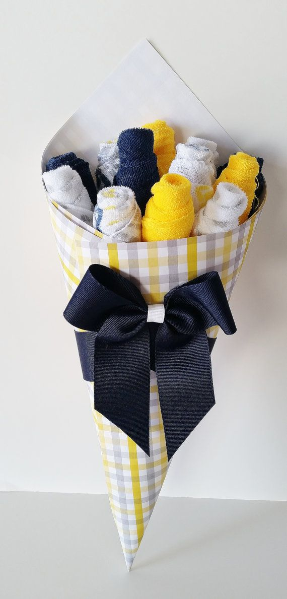 Baby Washcloth Bouquet Baby Boy Baby Gift by LilLoveBugsCreations