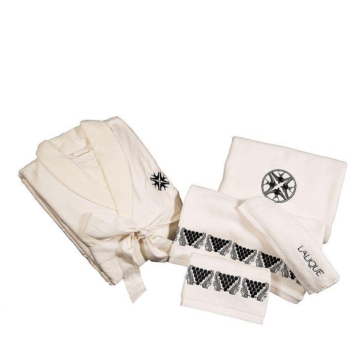 Peignoir brodé Hirondelles   Coton ivoire, brodé   Interior Design Lalique