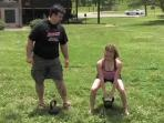Kettle ball swing tips