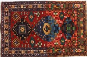 """""""Glitch carpets"""" by Faig Ahmed are handwoven by the artist to appear like there are digital glitches in these typically traditional Persian rugs. Do ..."""