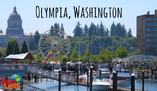 Fun things to do and see in Olympia, Washington.