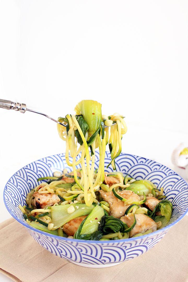... Bok Choy, Teriyaki Chicken, Zucchini Noodles, Noodles Under300Calori
