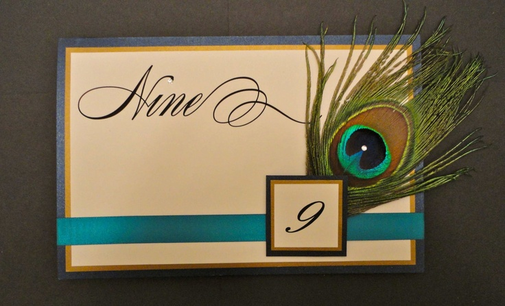 Peacock Table Numbers