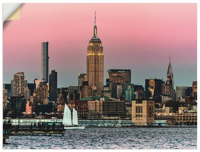 Premium wall foil »Kurt Krause: Sunset in New York«
