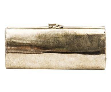 Pochette in pelle bronzo anticato - 22x10x6 cm