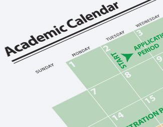 Display Academic Calendar and Important Dates