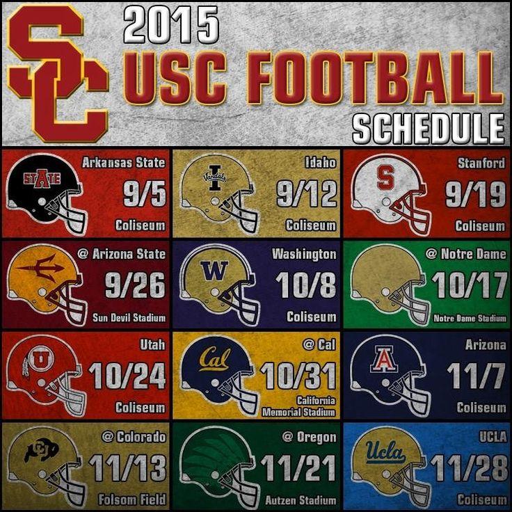 2015 USC Trojans Football schedule!!!
