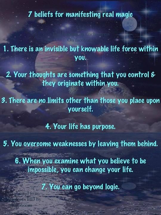 7 beliefs for manifesting real magic
