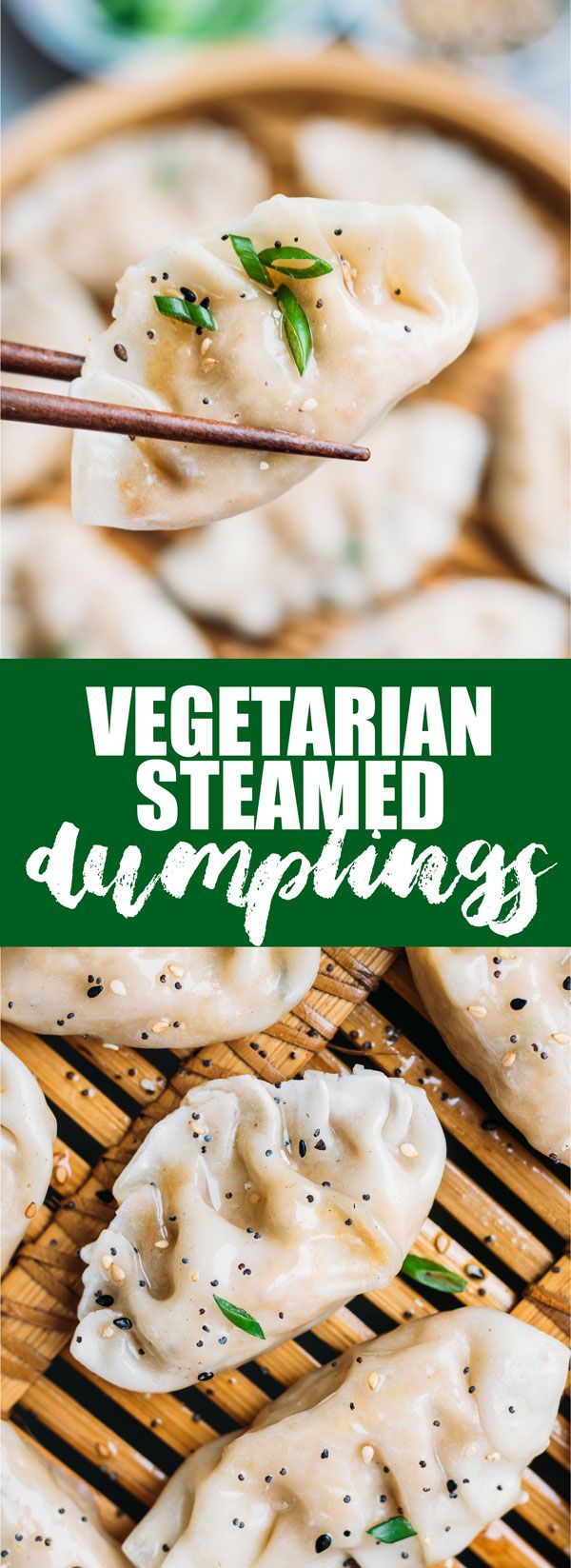 These vegetarian steamed dumplings are loaded with healthy veggies & tofu, and are so easy to make! You'll never buy dumplings again!