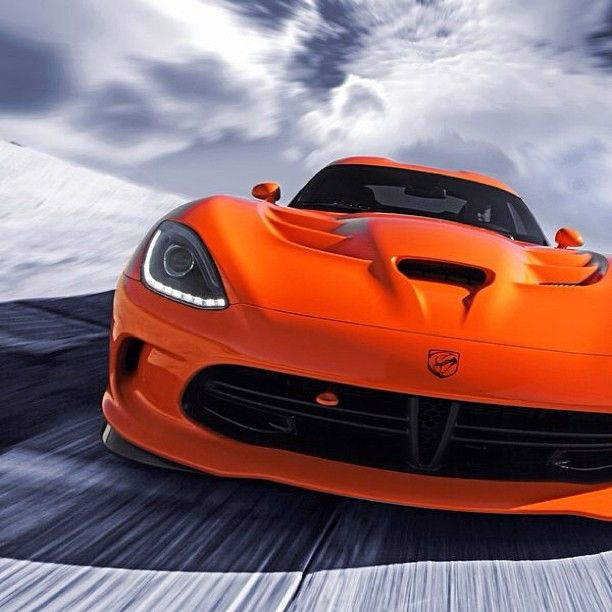 bright orange dodge viper srt