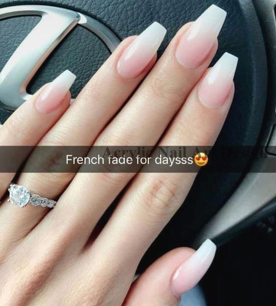 42 Elegant French Fade Nail Art Designs and Ideas