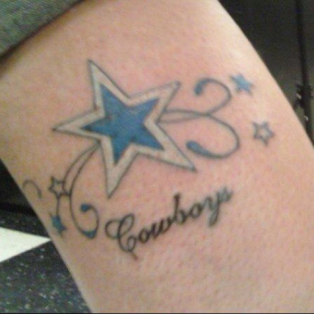 8 best dallas cowboys tattoos images on pinterest cowboy for Dallas cowboys star temporary tattoos