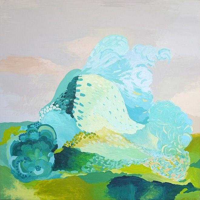 Saija Starr Kasvigeneraattori / A plant generator, Acrylic on canvas, 2012.