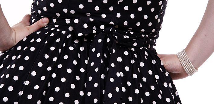 Vintage ruha - fehér pöttyös