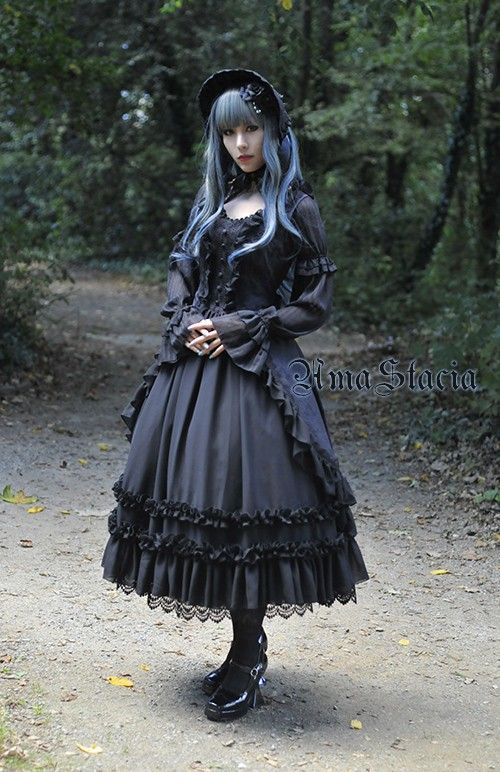 AmaStacia Open Front Elegant Gothic Lolita Jumper Dress - Out