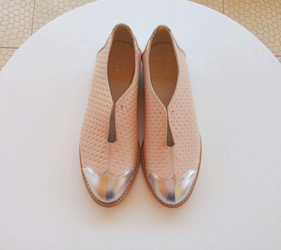 Rosa planos zapatos Oxford venta 45% OFF nuevo por ImeldaShoes