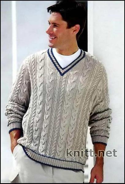 Красивые мужские свитера для мужчин спицами