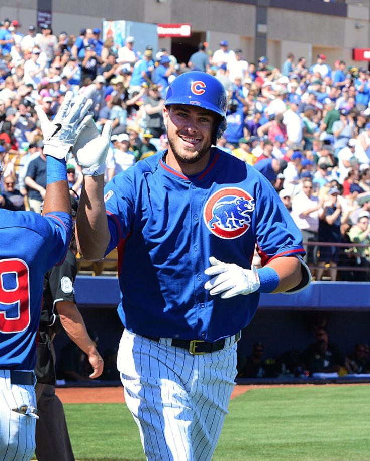 Kris Bryant hits his first of two home runs - March 14, 2015