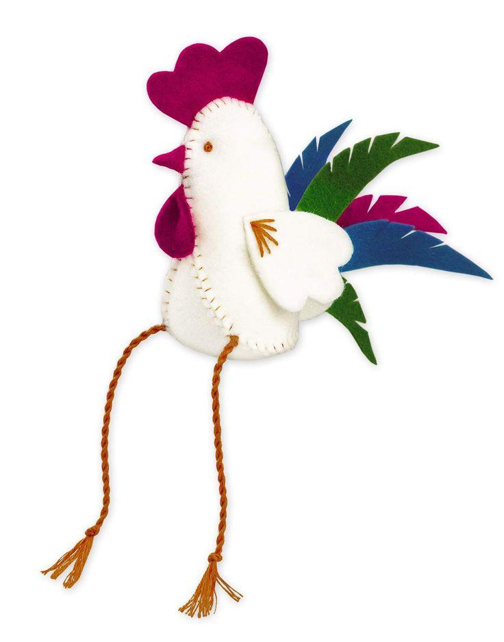 Needlework kit Rooster of felt by RIOLIS  Набор для рукоделия 1583АС Петух из фетра от РИОЛИС