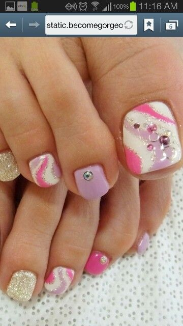 85 Best Images About Beautiful Toenails Inspiration On