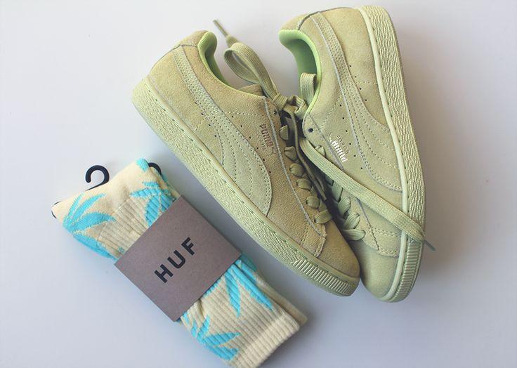 HUF socks & Puma Suede Classics
