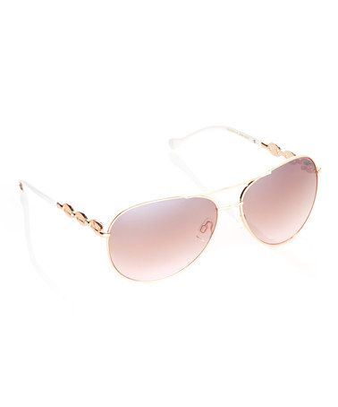 Look what I found on #zulily! Rose Gold & Blush Aviator Sunglasses #zulilyfinds