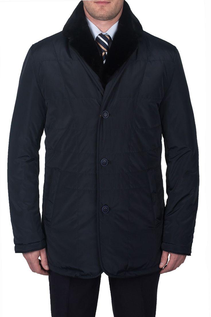 Мужская зимняя куртка UNGARO NIGHT NAVYсинего цветаClassic fit