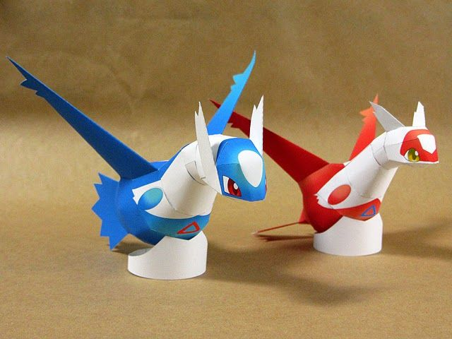 Paperkraft.net - Free Papercraft, Paper Model, & Papertoy: Pokemon Latias and Latios Paper Model