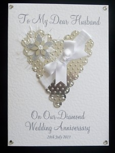 Wedding Anniversary Card Wife Husband Mum Dad Friends Etc Personalised