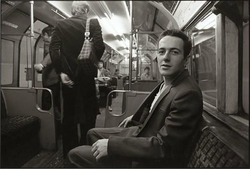 """""""In 1981 I happened to see Joe Strummer – he was the singer for the punk rock band The Clash – on the tube. I saw him sitting on the other side of the seat, but I thought he was too private – he might get too angry – but I was trying to be brave, I went up to him and asked him 'may I take a picture of you.' he smiled and said 'yes', and I clicked several shots.     Just before he got off the train he said to me, 'You should take photos of whatever you want. That's punk.'""""    Herbie Yamaguchi"""