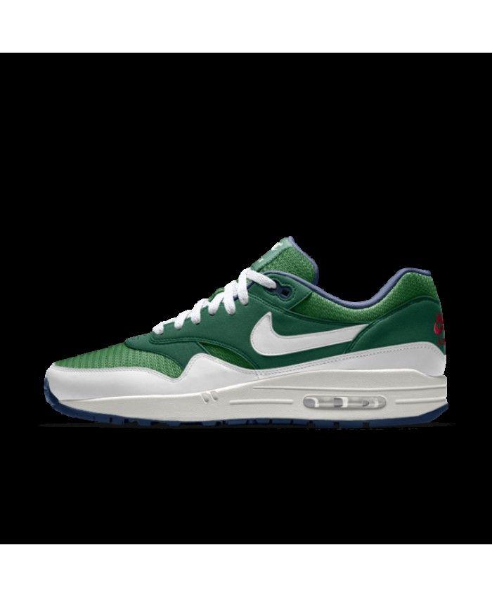 super popular e1873 d8e7c Nike Air Max 1 Essential Id Gorge Green White Mens Shoes Outlet