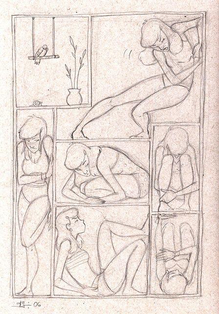by Amanda Grazini, Sketch, i love the body poses