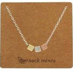 Fabienne Neck Mints Brushed Triple Cubes Necklace – The Tangerine Fox