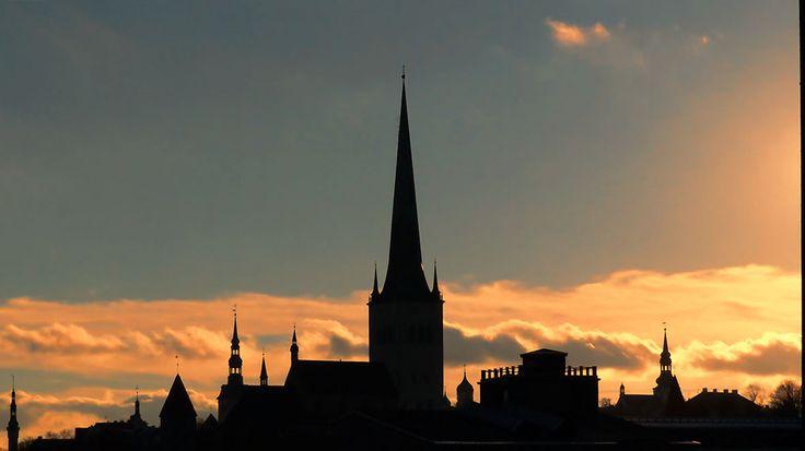 les silhouettes de Tallinn...