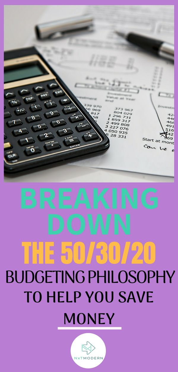 Breaking Down The 50/30/20 Budgeting Philosophy Nxt Modern Posts