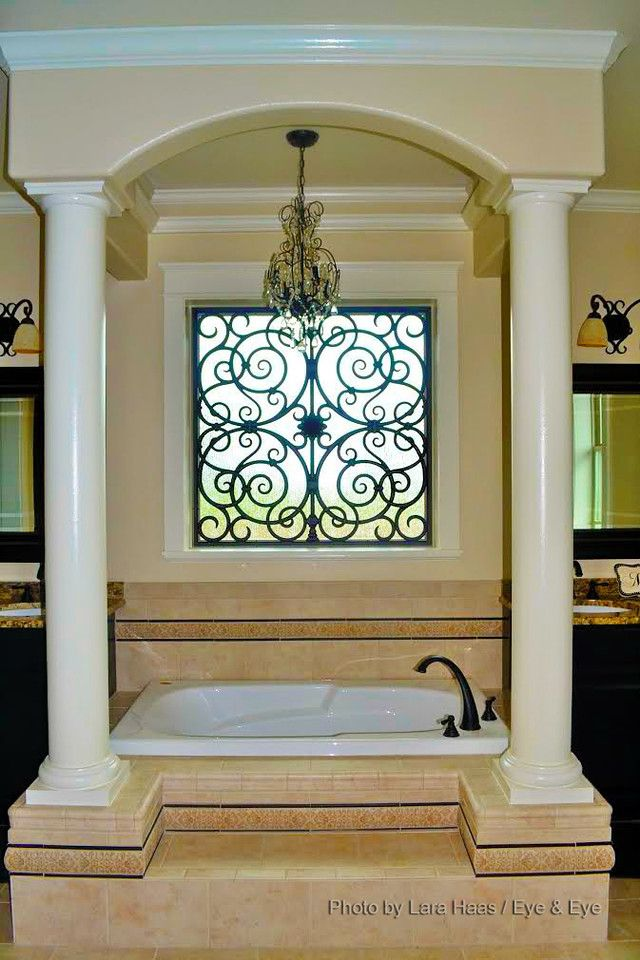 Interior Design Inspiration: Tableaux® Faux Iron Designer Grilles Can Be  Used As Window Treatments