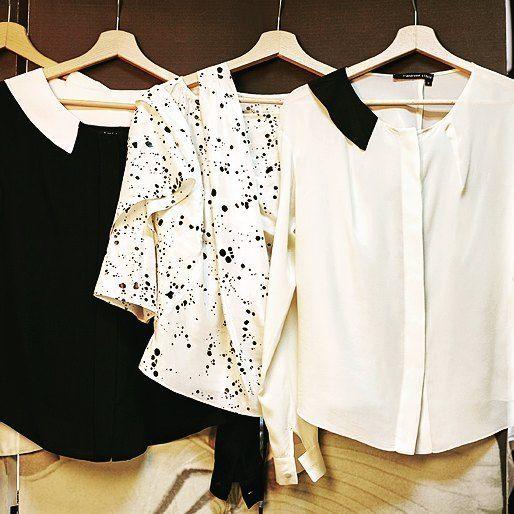 Silk blouses Andrea Tincu #blackandwhite #fashiondetails #silk #blouses #lovejob #collection #andreatincu #fashiondesigner #minimalism #contemporaryfashion