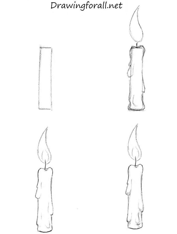 How to Draw a Candle http://www.drawingforall.net/how-to-draw-a-candle/