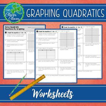 Graphing Quadratic Equations (Standard Form) - Worksheets ...