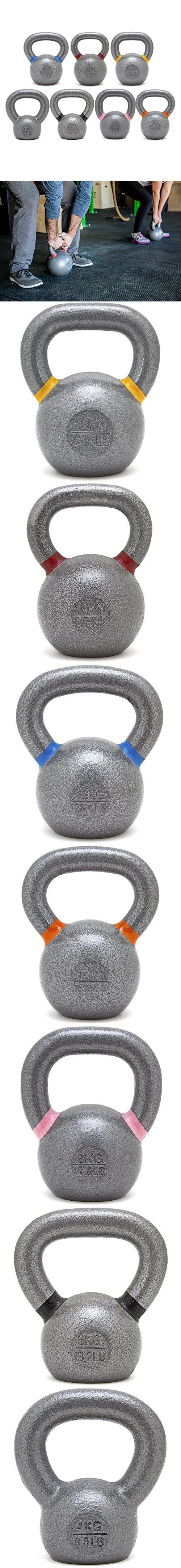 Kettlebell Set 4/6/8/10/12/14/16 Kg New Onefitwonder Solid Cast Iron Kettlebell Weight for Crossfit Training Strength Training Gym Exercise Superior Grip Kettlebell Set
