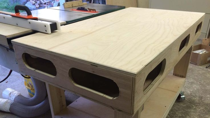 Torsion Box Out Feed Amp Assembly Table Garage Workshop