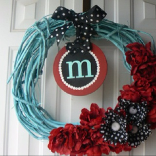 Cute wreath DIY--This would be cute a a girls Dr. Seuss party....@Amber Wheeler