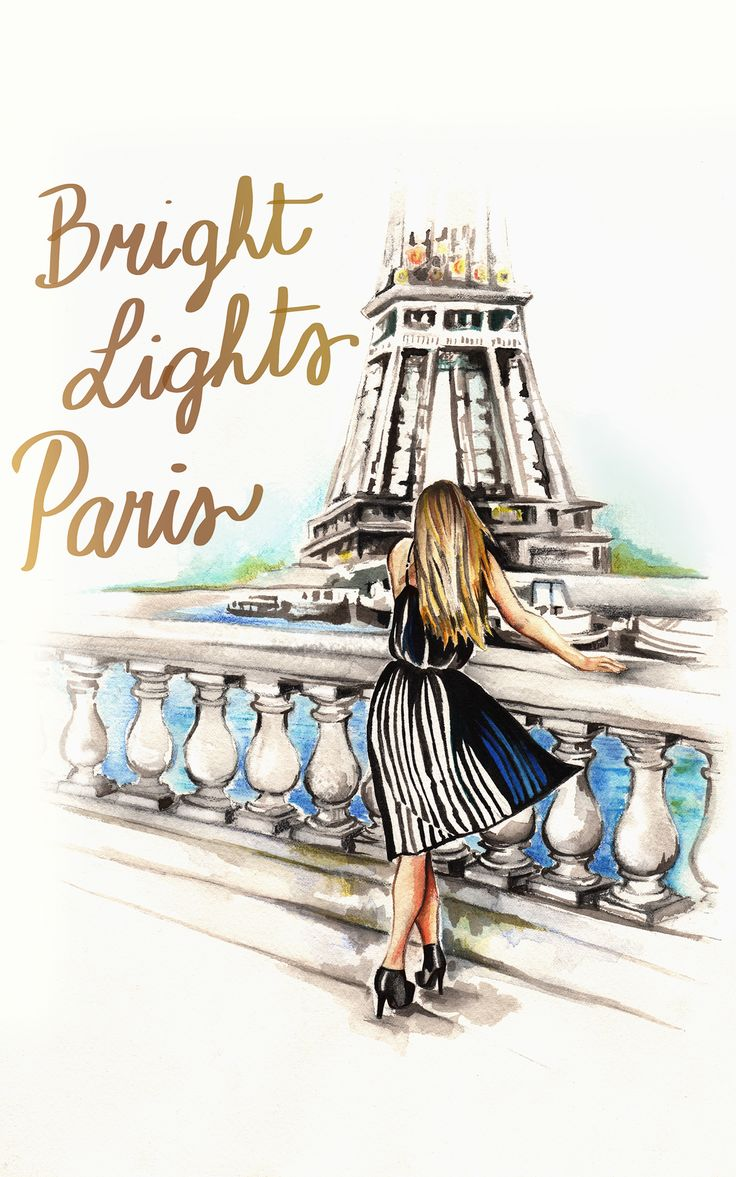 BRIGHT LIGHTS PARIS by Angie Niles    @LaVieAnnRose ILLUSTRATION BY IVA ZUGIC www.IvaZugic.com