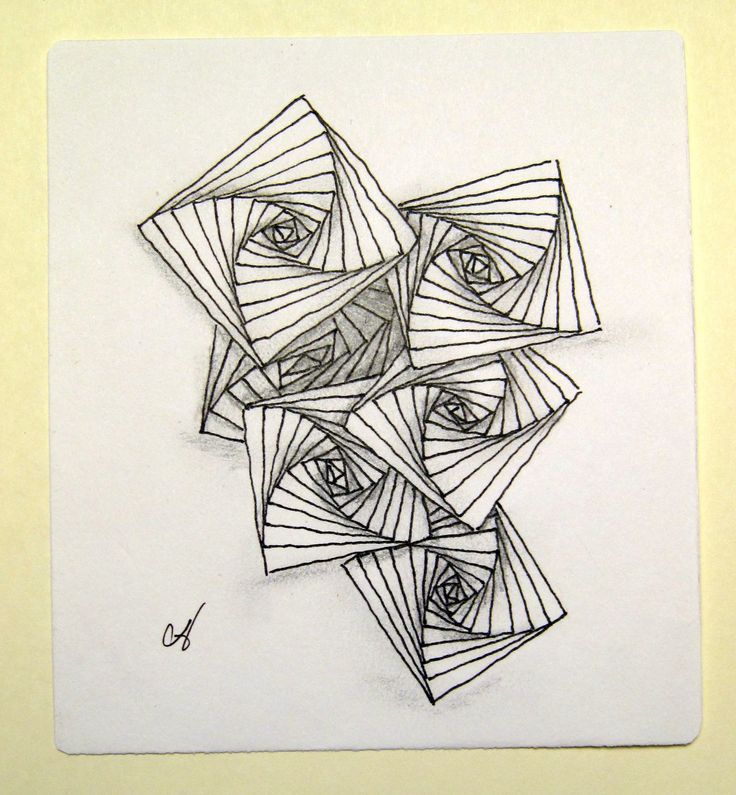 Zentangle Patterns For Beginners - Bing Images. galleryhip.com. I like how the shading makes this simple pattern more interesting.