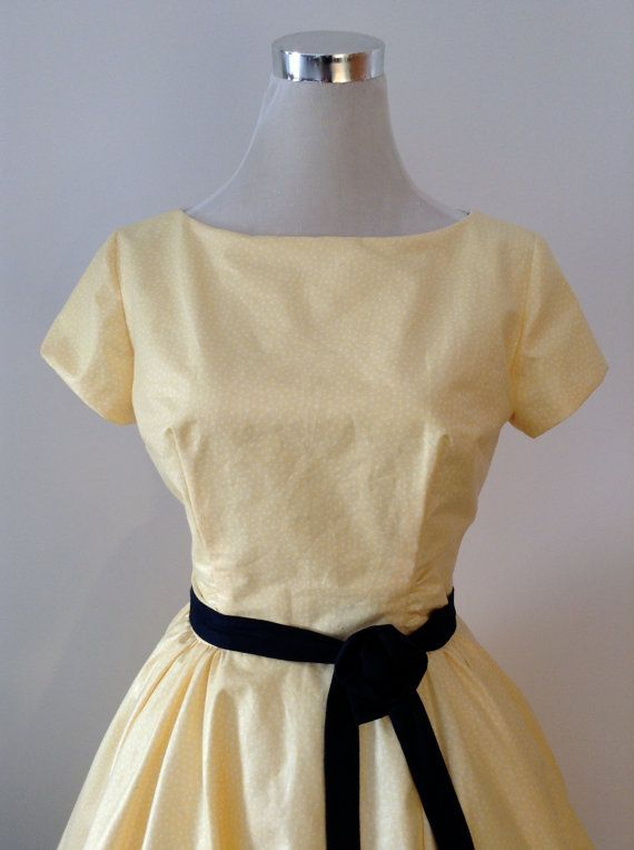 Lemon Squeezy  Vintage inspired 1950s Tea Length by TheFrockCloset