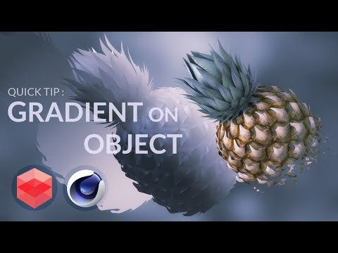 How to apply gradient on a object with redshift [CINEMA 4D TUTORIAL