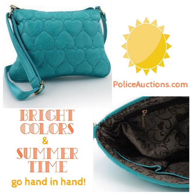 http://bit.ly/1FZ0tZa:Stylish Womens Teal Heart Quilted Gold Tone Accent Zip Top Closure Crossbody Designer Purse