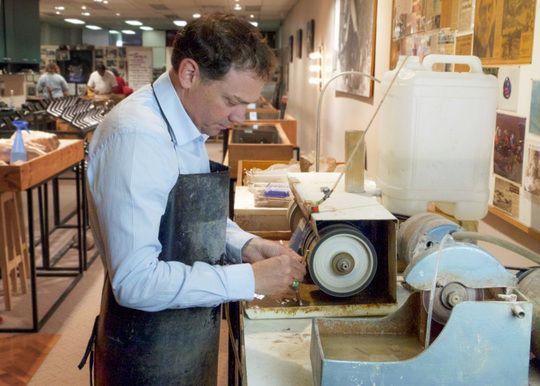 Jonas polishing Opal