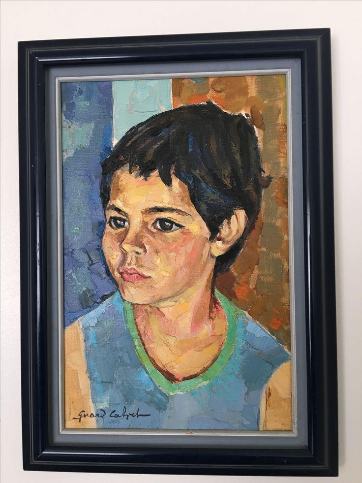 Portrait de Pierre, petit fils de Gérard Calvet, artiste peintre.1987