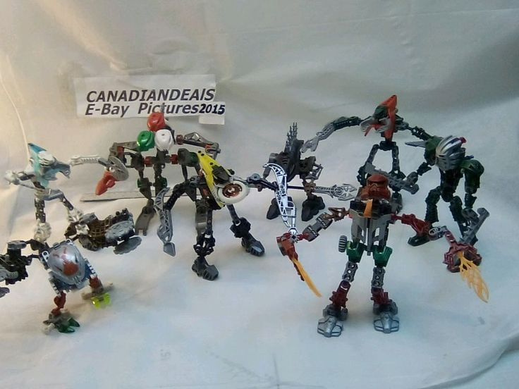 LEGO Bionicle Figures 8 TOTAL,Parts, Pieces, and Accessories custom made Guys GU #LEGO
